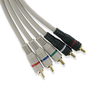 Premium 5-Wire RCA HDTV Component Video Jumpers